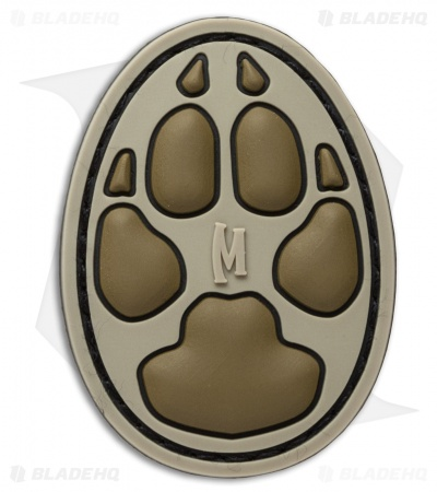 "Maxpedition 0.75"" x 1"" Dog Track PVC Patch (Arid)"