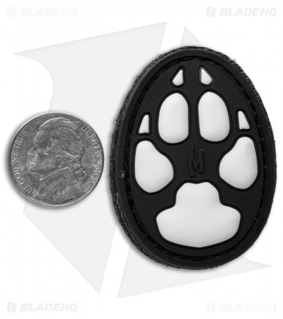 "Maxpedition 1.4"" x 2"" Dog Track PVC Patch (Glow)"