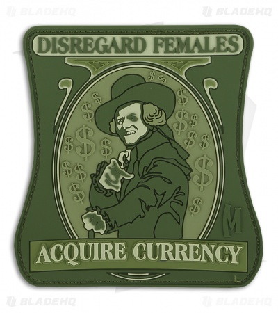 Maxpedition Disregard Females Acquire Currency PVC Patch (Full Color) FBGMC