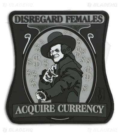 Maxpedition Disregard Females Acquire Currency PVC Patch (SWAT) FBGMS