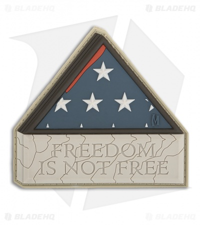 "Maxpedition 3"" x 2.5"" Freedom Is Not Free PVC Patch (Arid) FINFA"
