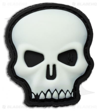 "Maxpedition 1.7"" x 2"" Hi Relief Skull PVC Patch (Glow)"