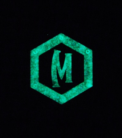 "Maxpedition 0.87"" x 1"" Hex Logo PVC Patch (Glow)"