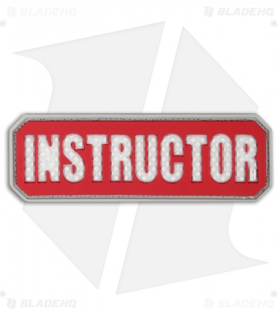 "Maxpedition 3"" x 1"" Instructor Morale PVC Patch (Red)"
