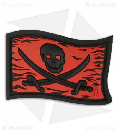 "Maxpedition 2.25"" x 1.5"" Jolly Roger PVC Patch (Red)"