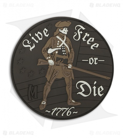 Maxpedition Live Free Or Die PVC Patch (Arid) LFODA