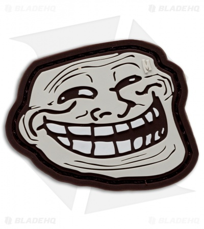 "Maxpedition 2.25"" x 1.9"" Troll Face PVC Patch (Arid)"