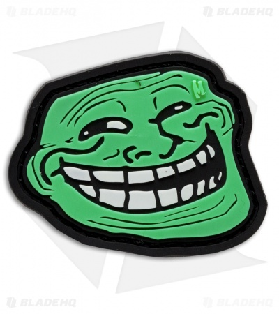 "Maxpedition 2.25"" x 1.9"" Troll Face PVC Patch (Glow)"
