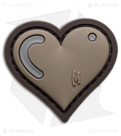 "Maxpedition 1.61"" x 1.5"" Heart Patch PVC (Arid)"