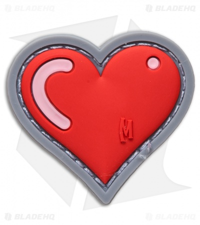 "Maxpedition 1.61"" x 1.5"" Heart Patch PVC (Full Color)"