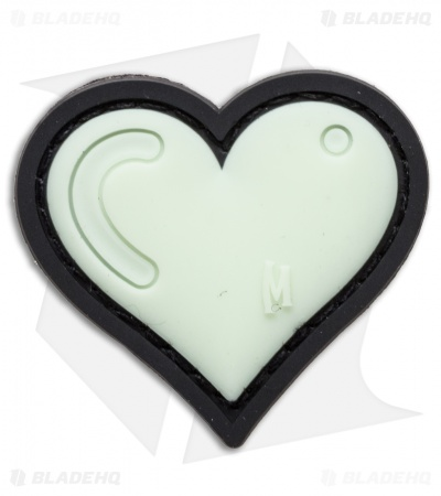 "Maxpedition 1.61"" x 1.5"" Heart Patch PVC (Glow)"