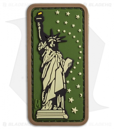 "Maxpedition 1.3"" x 2.6"" Lady Liberty PVC Patch (Arid)"