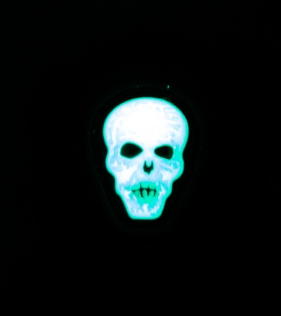 "Maxpedition 0.7"" x 0.88"" Hi Relief Skull PVC Patch (Glow)"