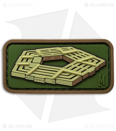 "Maxpedition 2.0"" x 1.0"" Pentagon PVC Patch (Arid)"