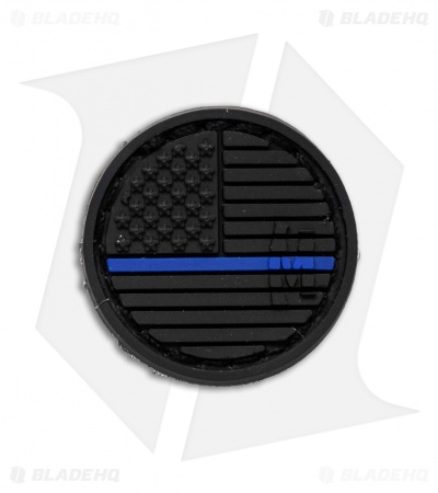 "Maxpedition 0.98"" x 0.98"" US Flag Micropatch PVC (LE Thin Blue Line)"