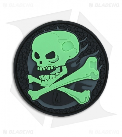 "Maxpedition 2.75"" x 2.75"" Skull PVC Patch (Glow) SKULZ"