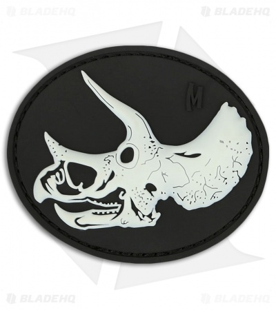 "Maxpedition 3"" x 2.5"" Triceratops Skull PVC Patch (Glow)"