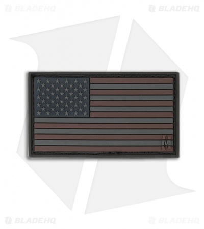 "Maxpedition 2"" x 1"" USA Flag Small PVC Patch (Stealth) USA1X"