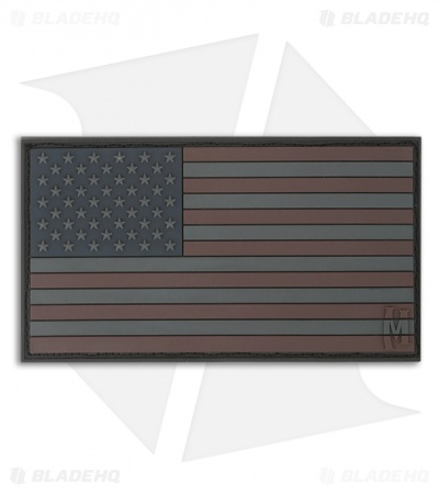"Maxpedition 3.25"" x 1.75"" USA Flag Large PVC Patch (Stealth) USA2X"
