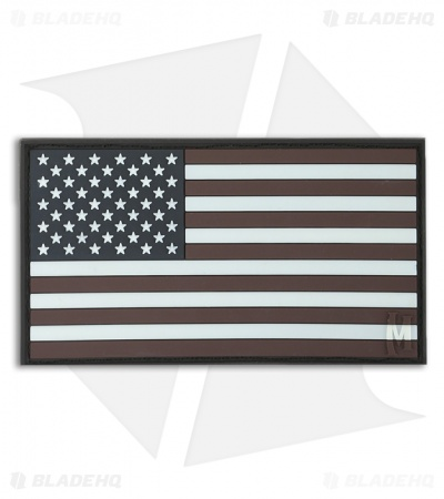"Maxpedition 3.25"" x 1.75"" USA Flag Large PVC Patch (Glow) USA2Z"