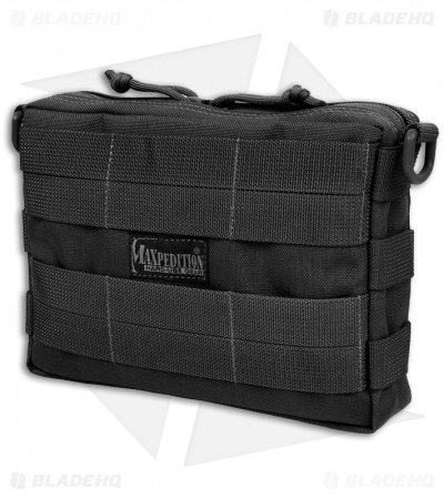 Maxpedition TacTile Pocket Large Black Utility Pouch Bag 0225B
