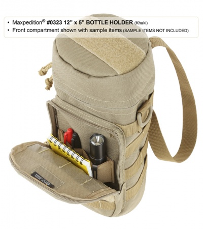 "Maxpedition 12"" x 5"" Nalgene Bottle Holder Bag Travel Case Khaki 0323K"
