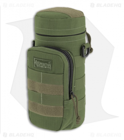 "Maxpedition 10"" x 4"" Nalgene Bottle Holder Bag Travel Case OD Green 0325G"