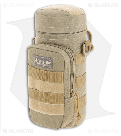 "Maxpedition 10"" x 4"" Nalgene Bottle Holder Bag Travel Case Khaki 0325K"