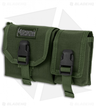 Maxpedition Tear-Away Waterproof Map Case w/ Pouch OD Green 0251G