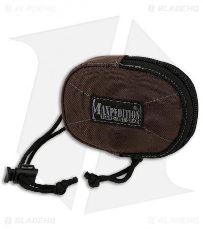 Maxpedition Coin Purse Zippered Pouch Dark Brown PT1190BR