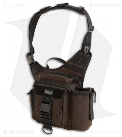 Maxpedition Jumbo S-Type Versipack Dark Brown Shoulder Sling Pack Bag 0413BR