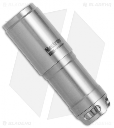 MecArmy X1S Rechargeable Mini Titanium Flashlight Polished (130 Lumens)