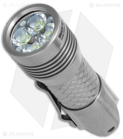 MecArmy PS16 Stainless Steel USB Rechargeable Flashlight Polished (2000 Lumens)