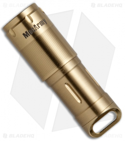 MecArmy X2S Stainless Steel Gold PVD Flashlight CREE XP-G2 (130 Lumens)