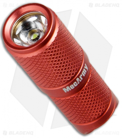 MecArmy X4S Red Rechargeable Mini Flashlight CREE XP-G2 (130 Lumens)