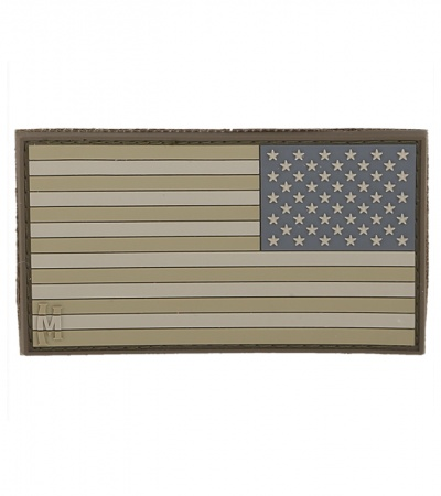 "Maxpedition Large 3.25"" x 1.75"" Reverse USA Flag Patch (Arid) US2RA"
