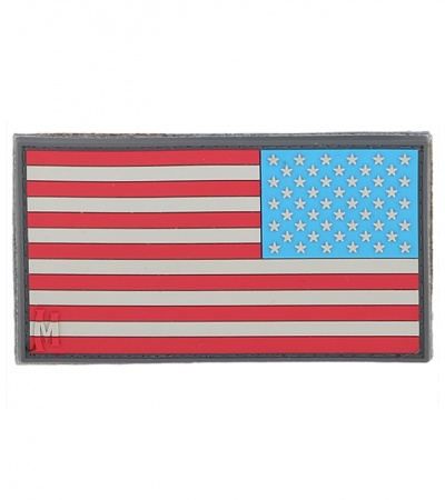 "Maxpedition Large 3.25"" x 1.75"" Reverse USA Flag Patch (Full Color) US2RC"