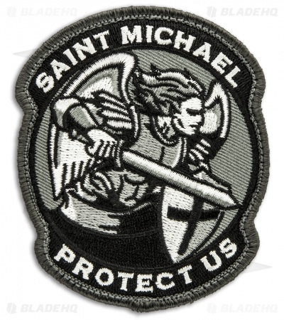 MSM Saint Michael Protect Us Patch Hook Velcro Back (SWAT)