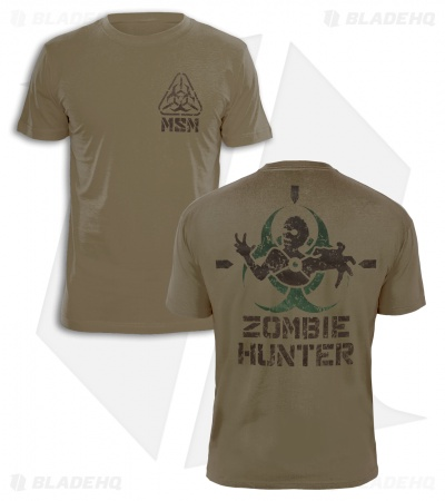 MSM Zombie Stencil T-Shirt (Dusty Brown)