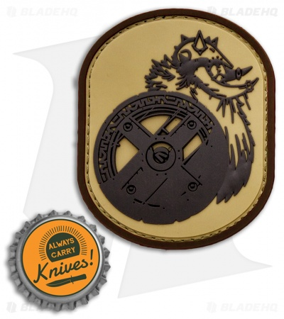 MSM Berserker PVC Hook Velcro Back Patch (Desert)