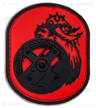 MSM Berserker PVC Hook Velcro Back Patch (Red)