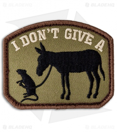 "MSM ""I Don't Give A..."" Hook Velcro Back Patch (Forest)"