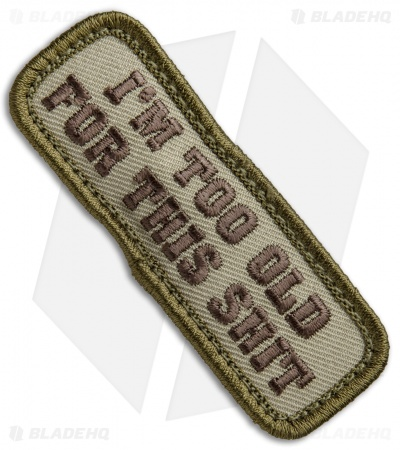 MSM Too Old Velcro Back Patch (Multi-Cam)