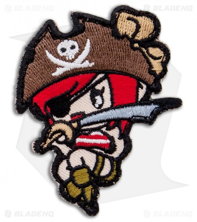 MSM Pirate Girl Hook Velcro Back Patch (High Contrast)
