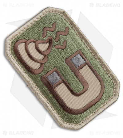 MSM Sh*t Magnet Patch Hook Velcro Back (Arid)