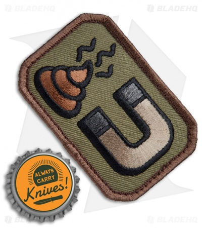 MSM Sh*t Magnet Patch Hook Velcro Back (Forest)