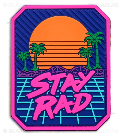 MSM Stay Rad PVC Hook Velcro Back Patch (Full Color)