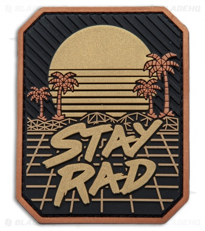 MSM Stay Rad PVC Hook Velcro Back Patch (Black/Gold)