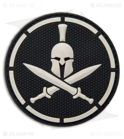 MSM Spartan Helmet PVC Hook Velcro Back Patch (SWAT)