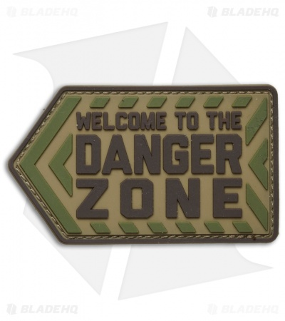 MSM Danger Zone PVC Hook Velcro Back Patch (Multicam)